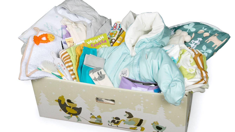 Foto: Caja finlandesa con artículos para bebés. (Kela/Flickr)