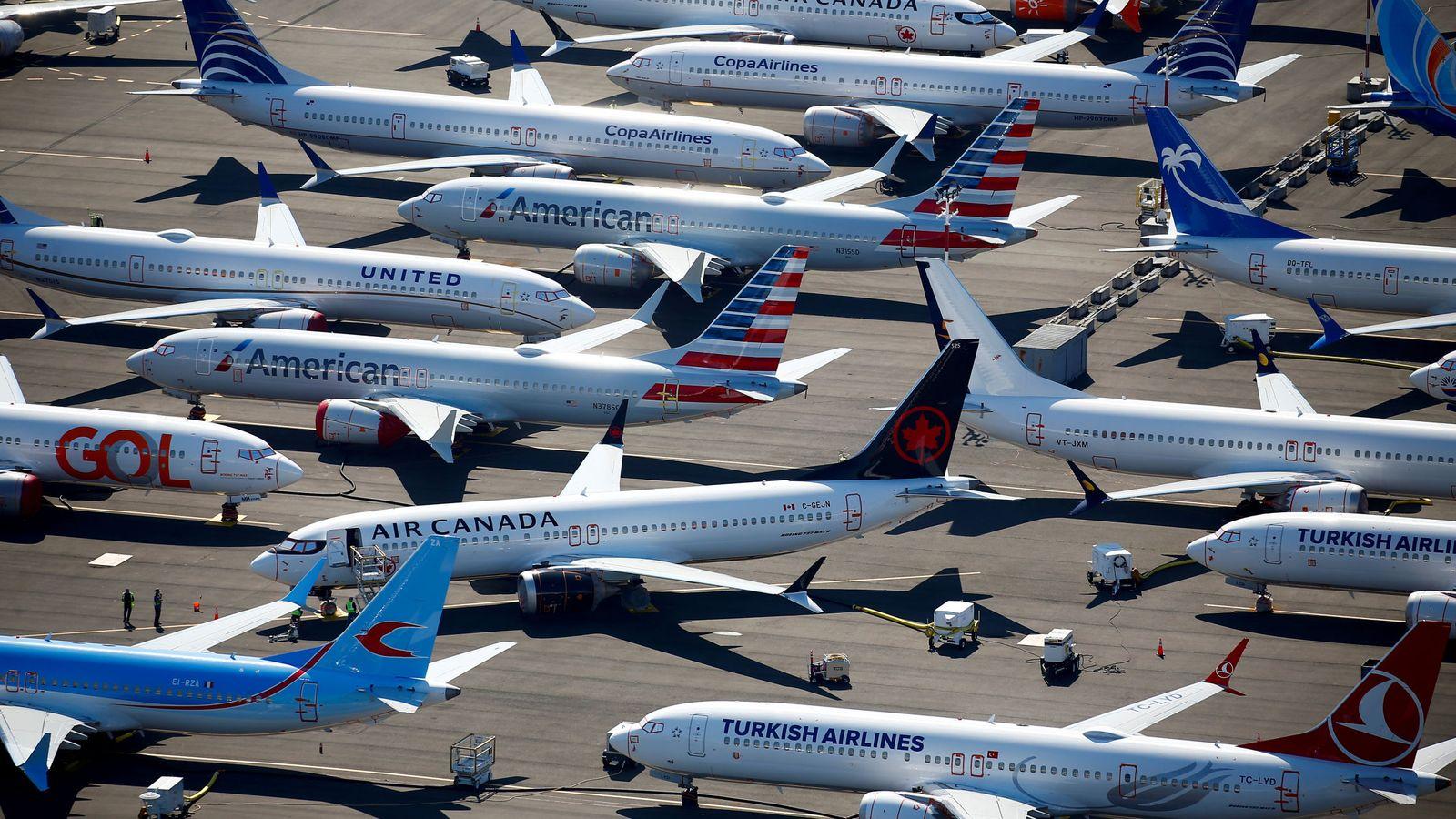 Foto: Varios Boeing 737 en el aeropuerto de Seattle, Washington. (EFE)