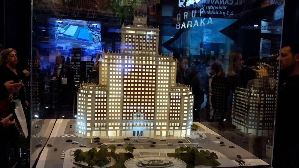 Foto: Maqueta del Edificio España en el SIMA.