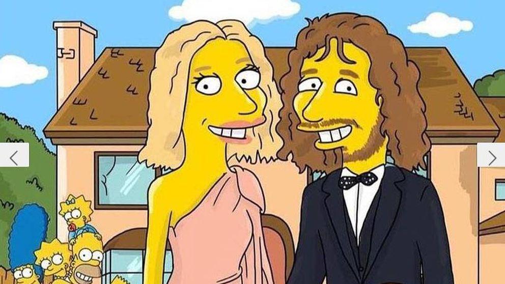¡Mosquis! ¿Van a salir Carles Puyol y Vanesa Lorenzo en 'Los Simpson'?