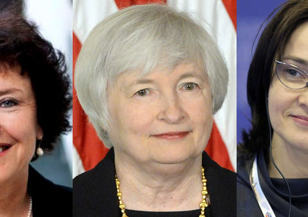 Foto: Karnit flug (Banco de Israel), Janet Yellen (Fed) y Elvira Nabiullina (Banco de Rusia)