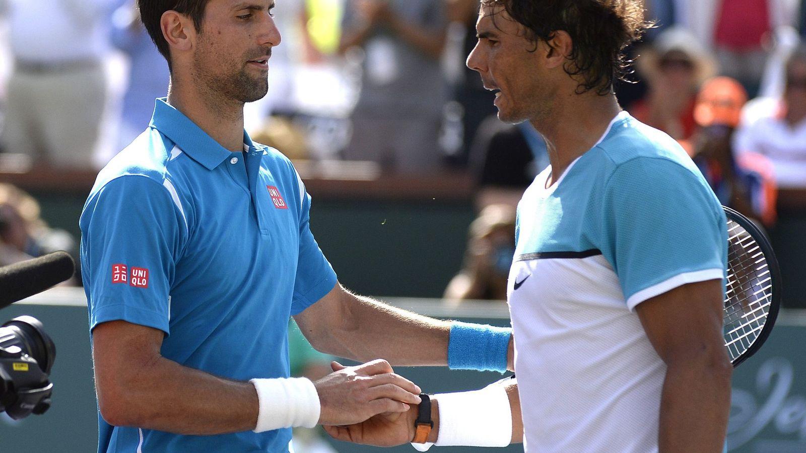 Foto: Djokovic ganó a Nadal por quinta vez consecutiva (EFE/EPA/MIKE NELSON).