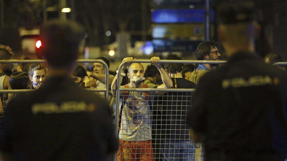 Foto: Protesta contra la llamada 'Ley Mordaza'. (EFE)