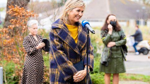 De Máxima a Letizia, estos son los 6 mejores abrigos de cuadros de las royals