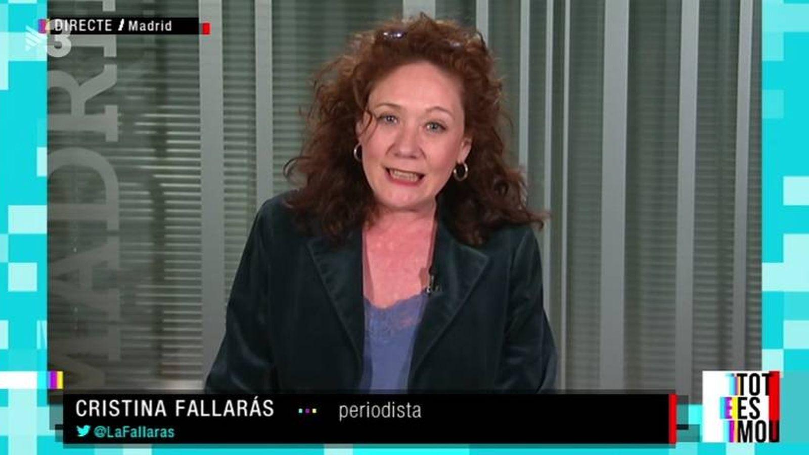 Foto: Cristina Fallarás, en el programa 'Tot es mou'. (TV3).