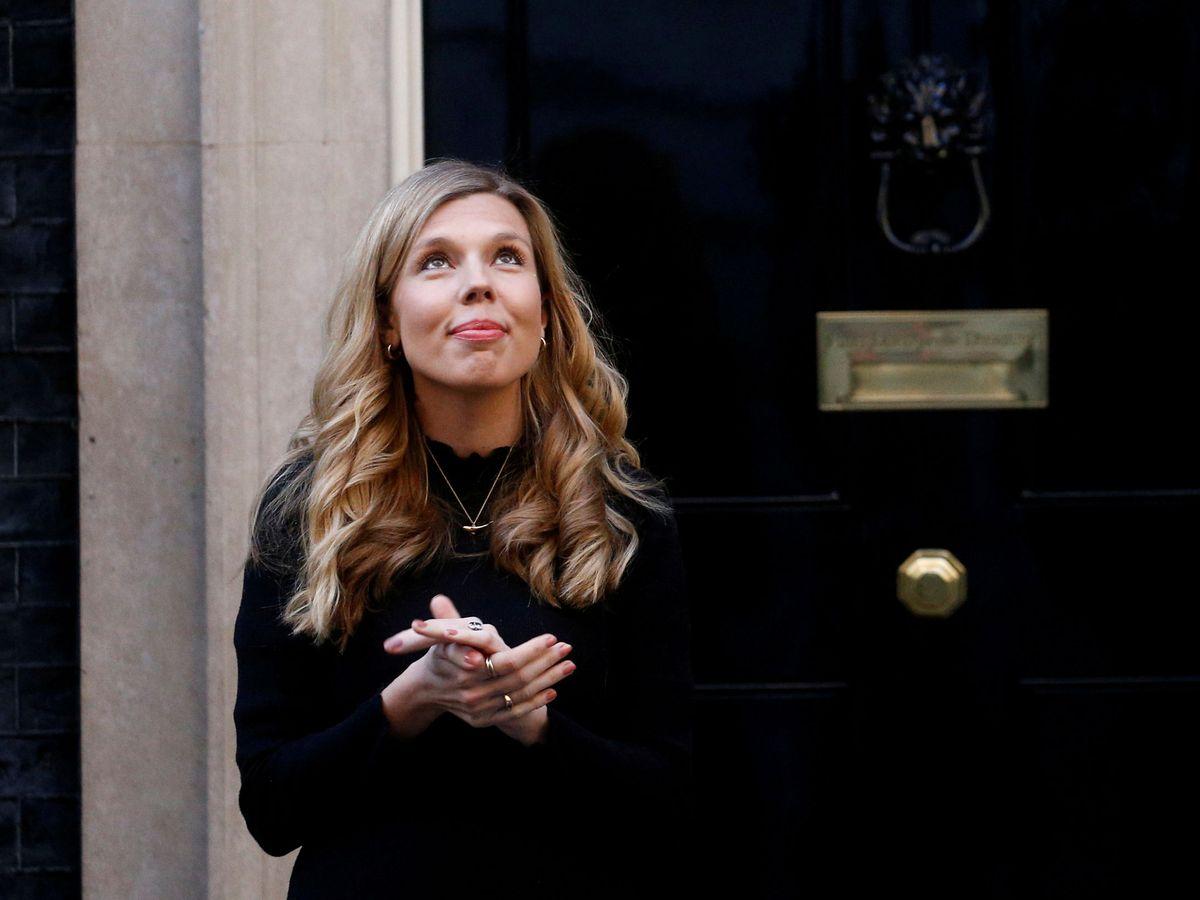 Foto: Carrie Symonds, prometida de Johnson, en el Número 10 de Downing Street. (Reuters)