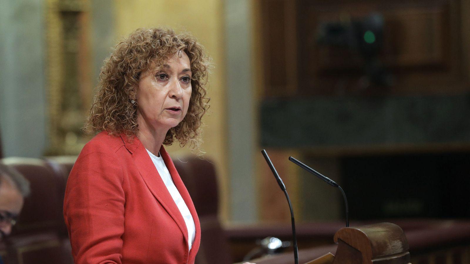 Foto: Esther Capella, diputada de ERC, en el Pleno del Congreso. (EFE)