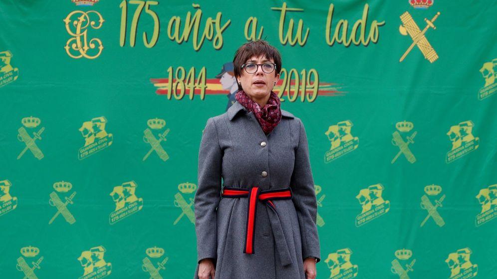 Foto: La directora general de la Guardia Civil, María Gámez, durante la toma de posesión de su cargo en enero. (EFE)