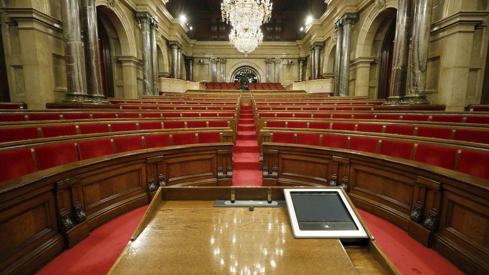 Foto: Vista del hemiciclo del Parlament de Cataluña. (EFE)