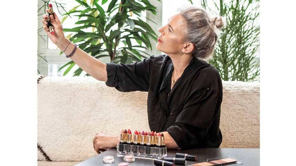 Foto: Isabel creando la línea de maquillaje en París. (Imagen: L'Oréal Paris)