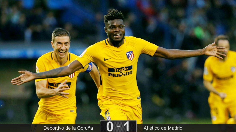 Foto: Thomas celebra su gol en Riazor. (EFE)