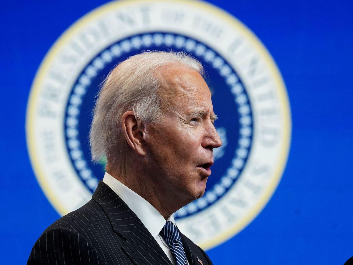 Foto: El presidente estadounidense, Joe Biden, durante un breve comunicado en la Casa Blanca este lunes.