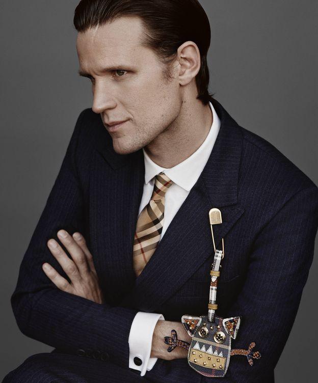 Foto: El actor Matt Smith como imagen de la firma Burberry. (Cortesía)