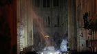 Así ha quedado el interior de la catedral de Notre Dame tras el incendio