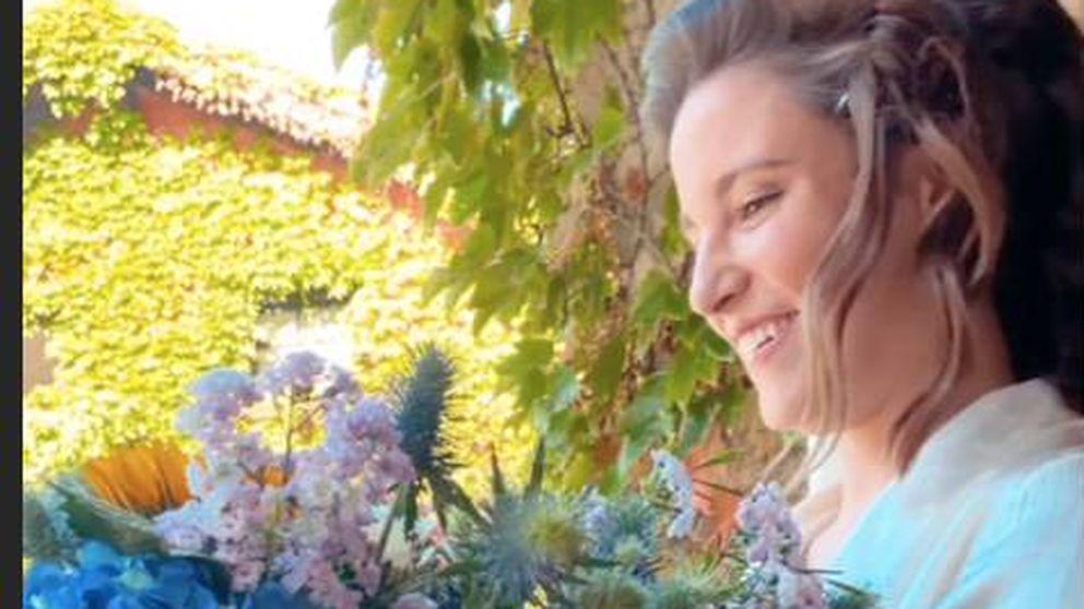Marta Pombo muestra su look de novia: sesión de belleza y un ramo muy especial