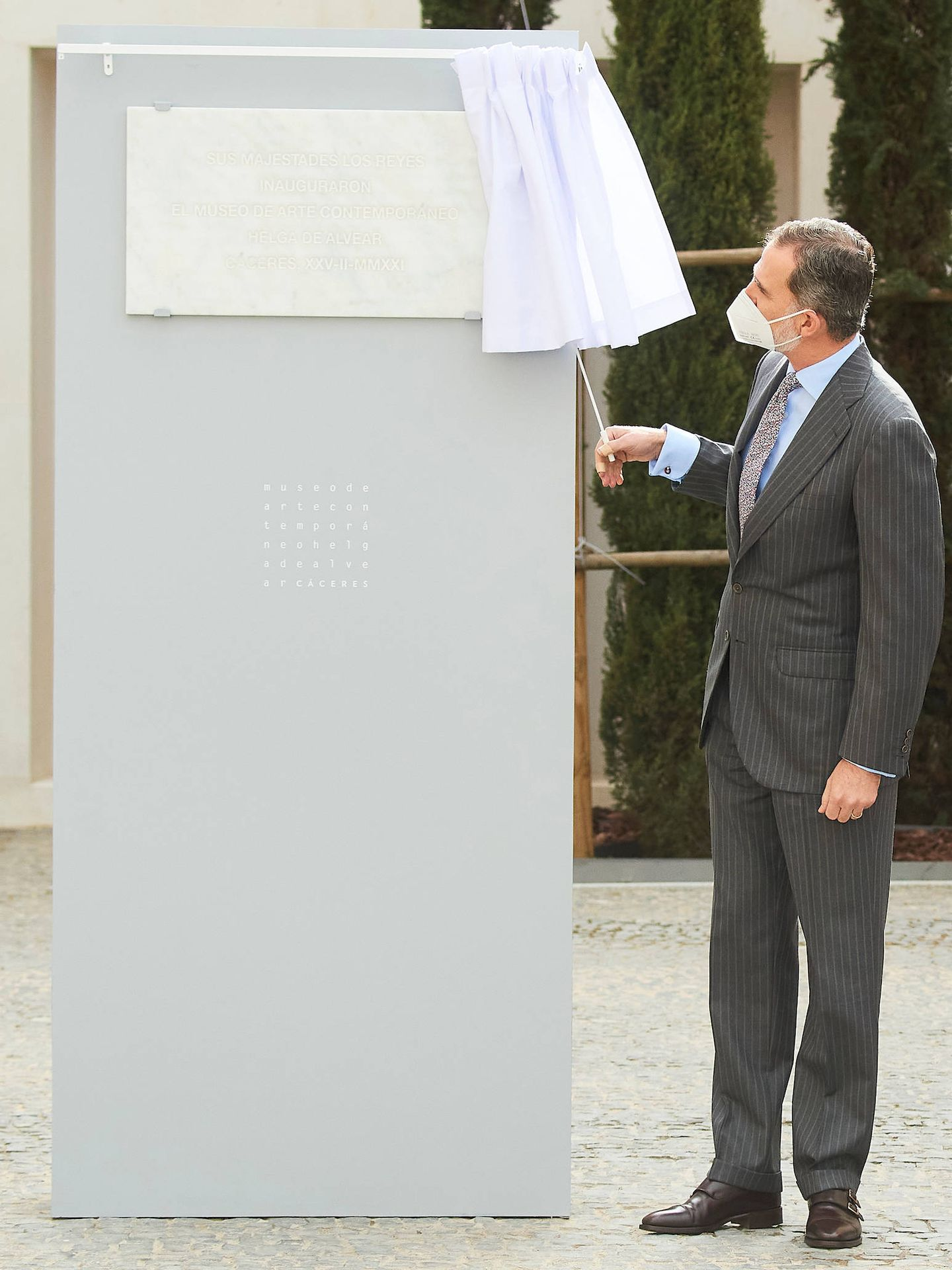 El rey Felipe, durante la inauguración. (LP)