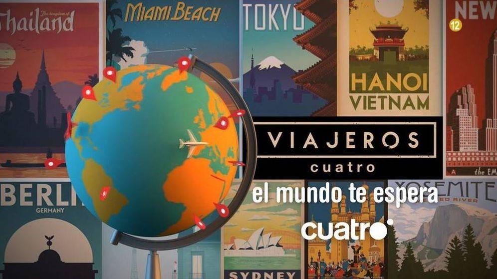 Foto: Logotipo del nuevo programa 'Viajeros Cuatro'.