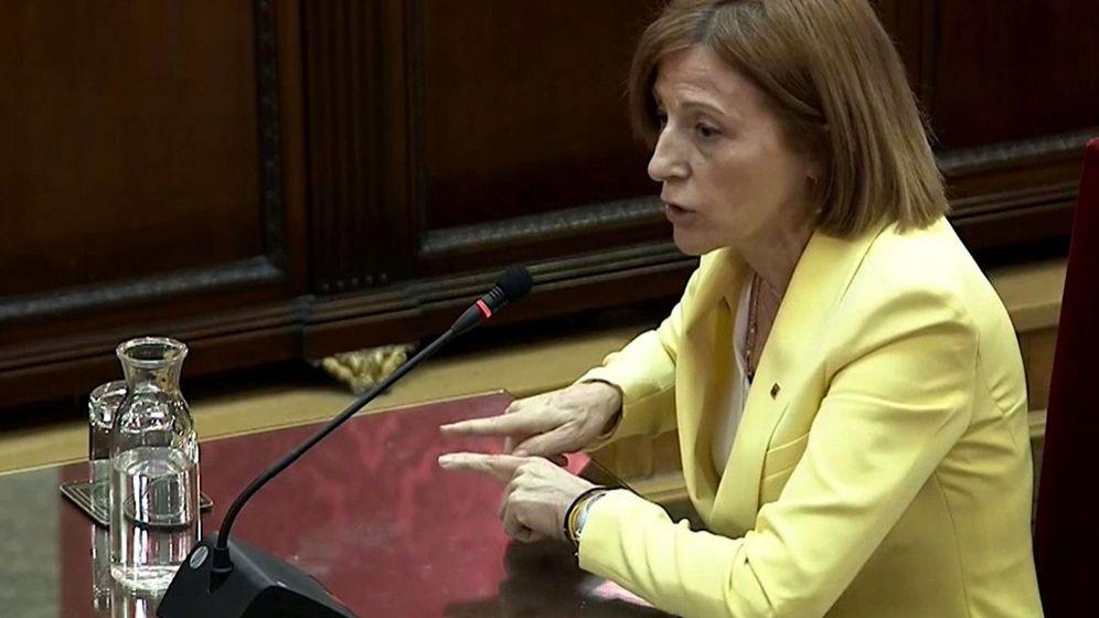 Foto: La expresidenta del Parlament Carme Forcadell en el juicio del 'procés'. (EFE)