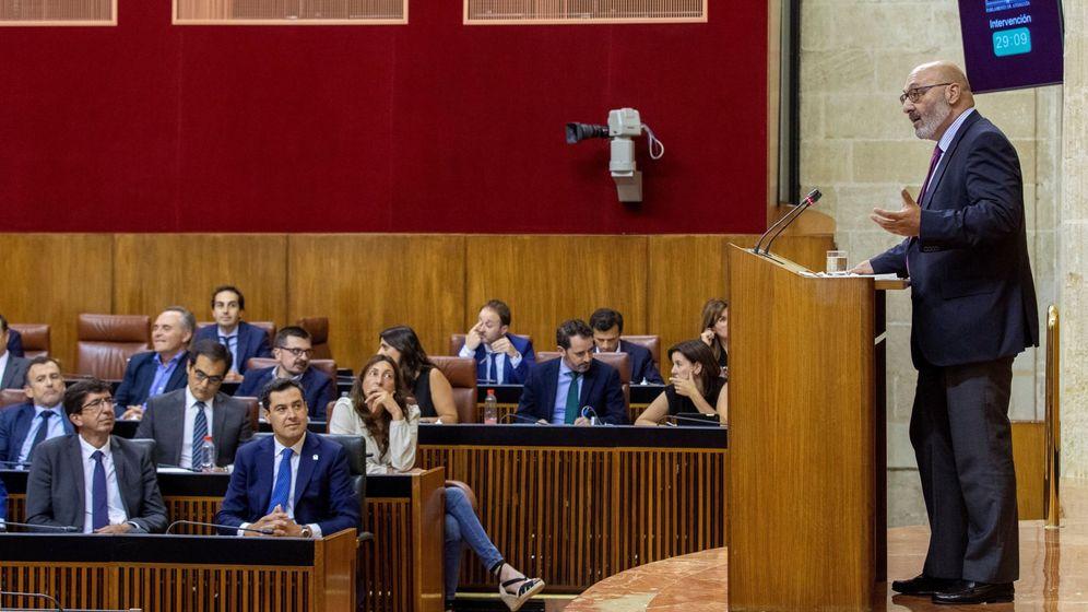 Foto: Debate de las enmiendas a la totalidad de los presupuestos andaluces 2019 en Parlamento. (EFE)