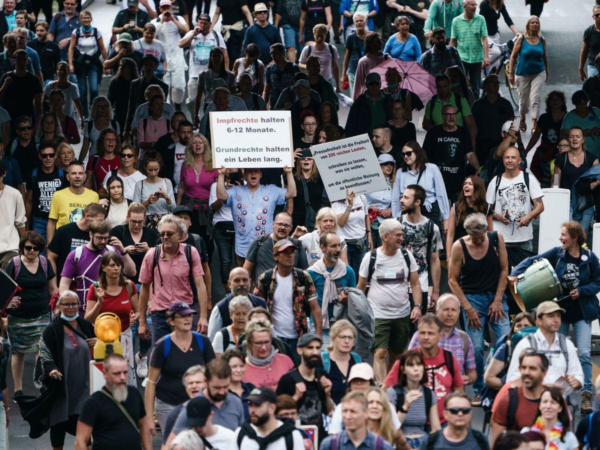 Foto: Protestas en Berlín. (EFE)