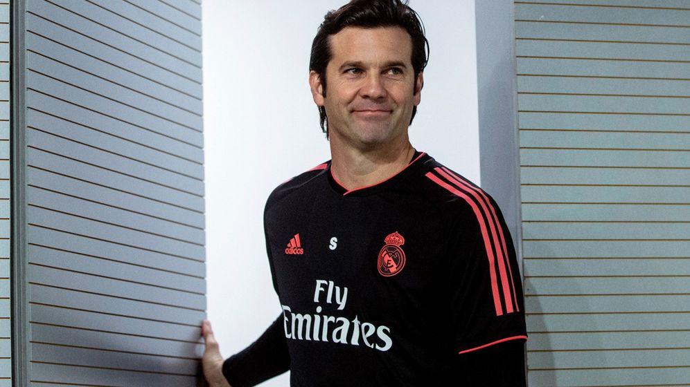 Foto: Solari en rueda de prensa tras un entrenamiento del Real Madrid. (EFE)
