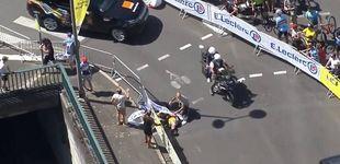 Post de La durísima caída del triple campeón de ciclocross en su debut en el Tour de Francia