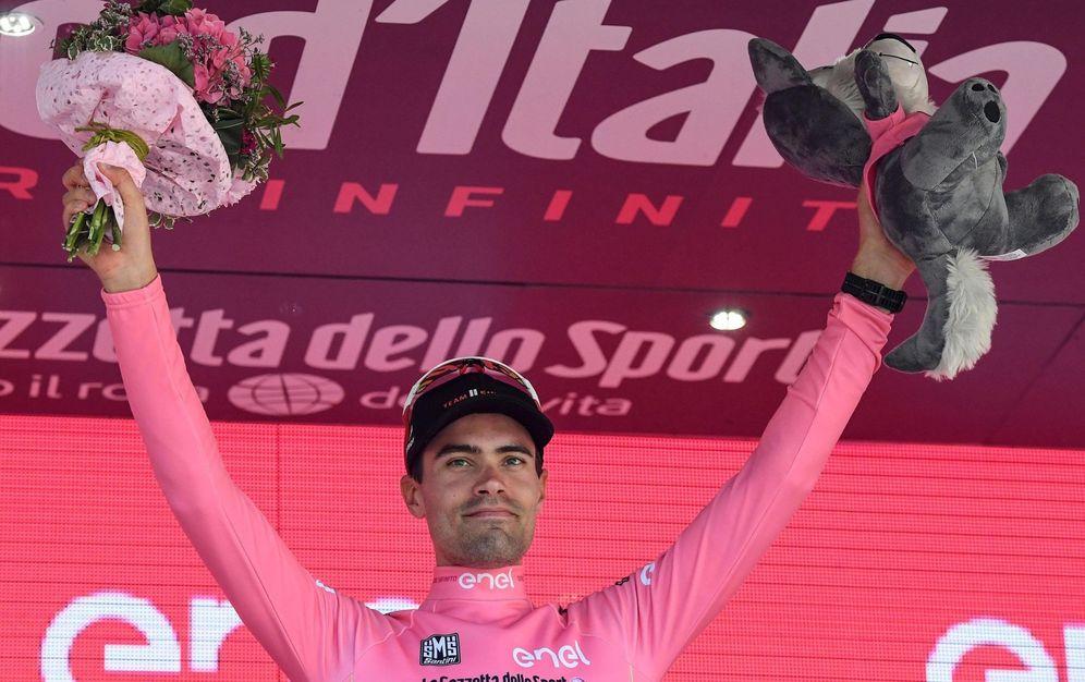 Foto: El ciclista holandés Tom Dumoulin dio una tremenda exhibición. (EFE)