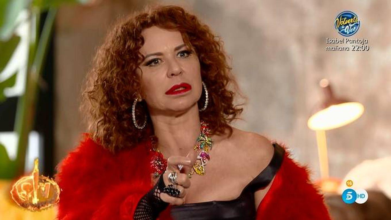Vicky Larraz, en 'Supervivientes 2020'. (Telecinco)