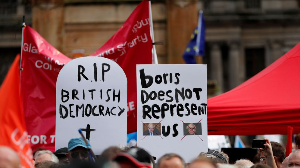 Foto: Manifestantes pro UE. (Reuters)