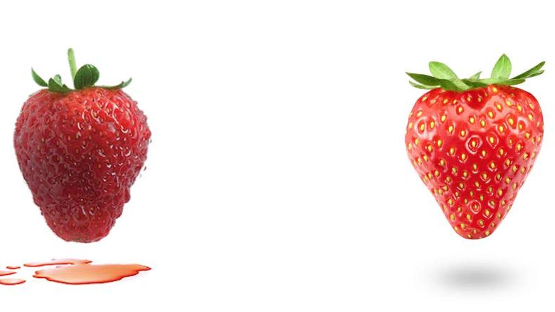 Fresas congeladas. A la derecha, el método Nice Tech. (Cortesía)