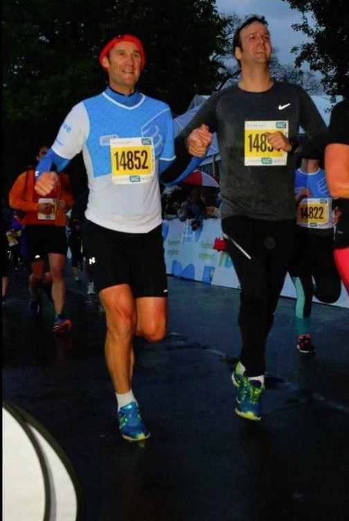 Foto: Iñaki Urdangarin dándolo todo en The Harmony Geneva Marathon for Unicef, de Suiza.