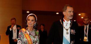 Post de La reina Letizia lleva Sevilla a Japón: el toque sevillano de su look