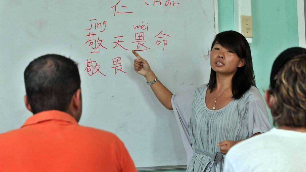 Foto: Una profesora de origen chino imparte clases el 21 de julio de 2011, en un Instituto Confucio. (EFE)