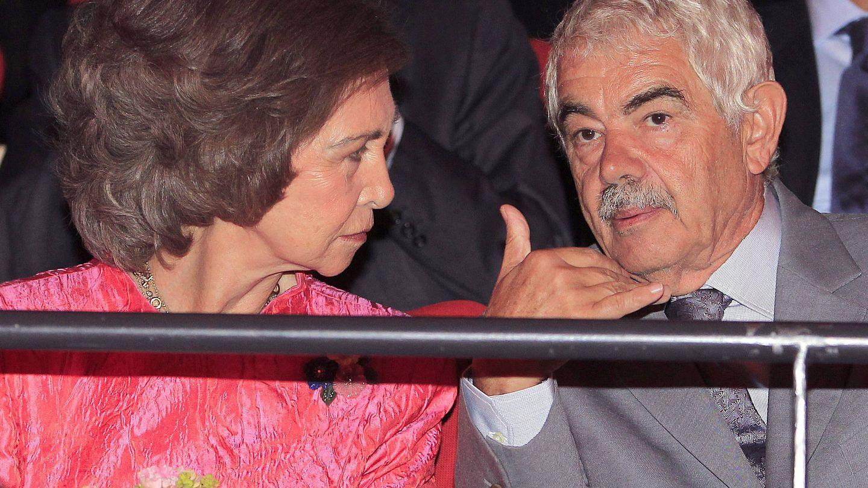 La reina Sofía y el añorado Pasqual Maragall, en 2011. (EFE)