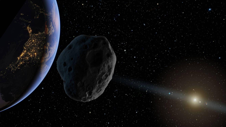 Foto: Visualización de un asteroide en ruta de impacto.
