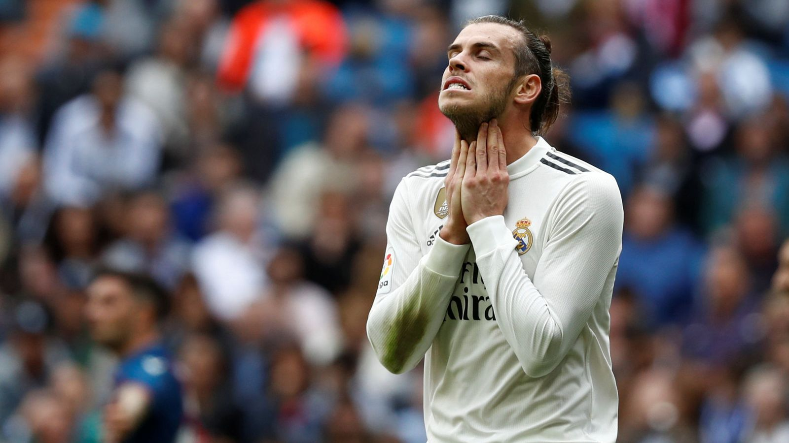 Foto: Gareth Bale durante el partido entre el Real Madrid y el Levante en el Bernabéu (Efe)