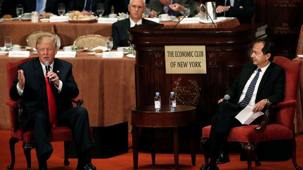 Foto: Donald Trump entrevistado por John Paulson en septiembre (Reuters)