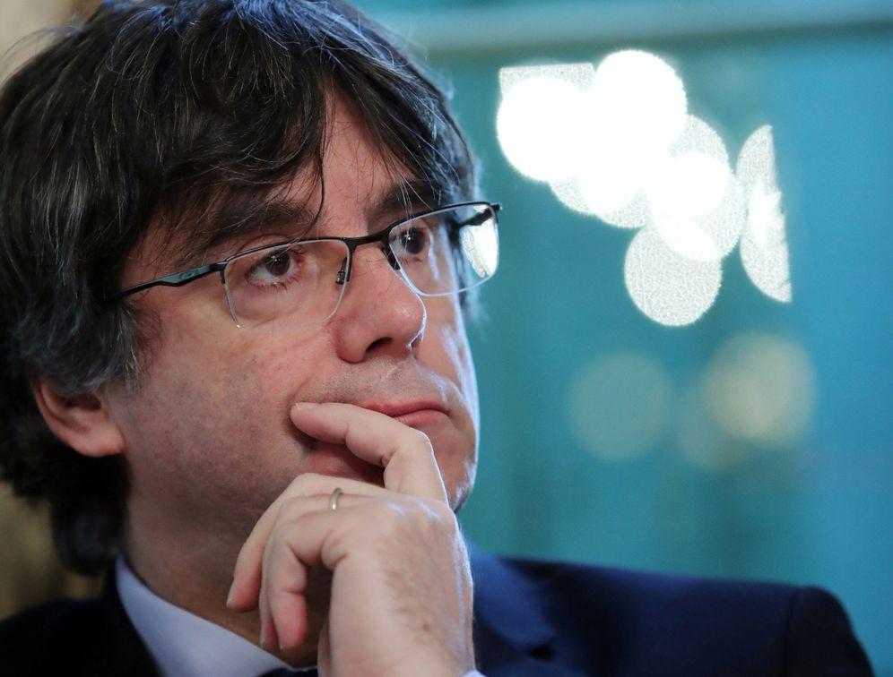 Foto: Puigdemont en una imagen tomada en una conferencia en Ginebra. (Reuters)