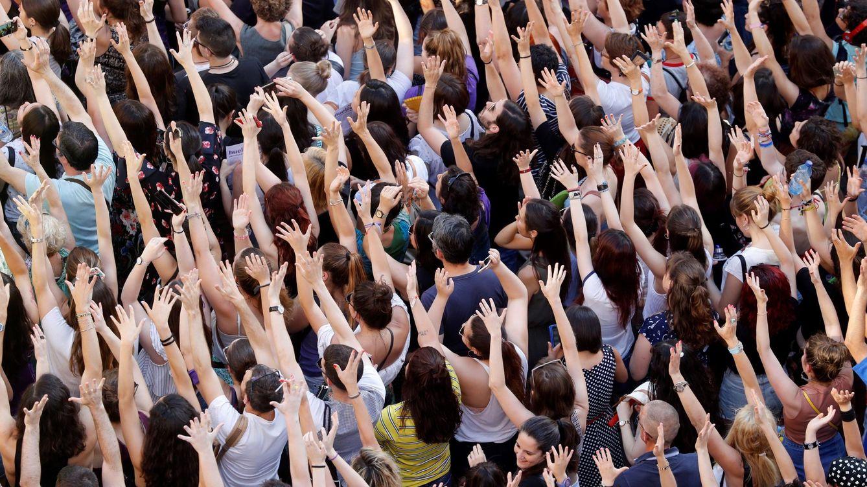 Foto: Manifestacion en Madrid contra la liberación de los condenados por el juicio de la manada. EFE