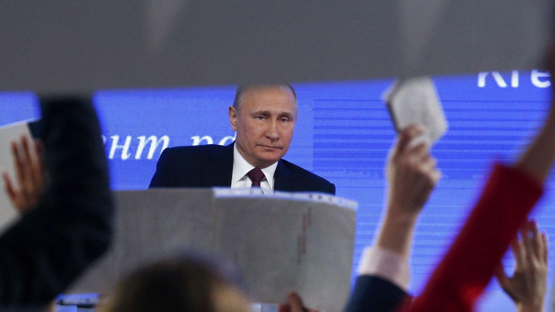 Vladímir Putin durante su encuentro anual con la prensa en Moscú, el 23 de diciembre de 2016 (Reuters)