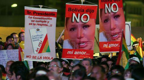 Manifestación contra la reelección de Evo