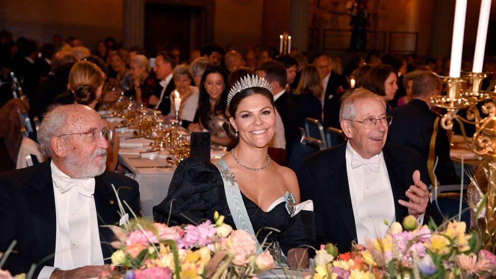 Foto: La princesa Victoria, durante la cena de los Premios Nobel. (EFE)