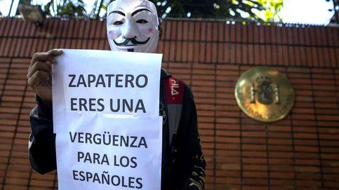 Protesta frente a la embajada de España en Caracas