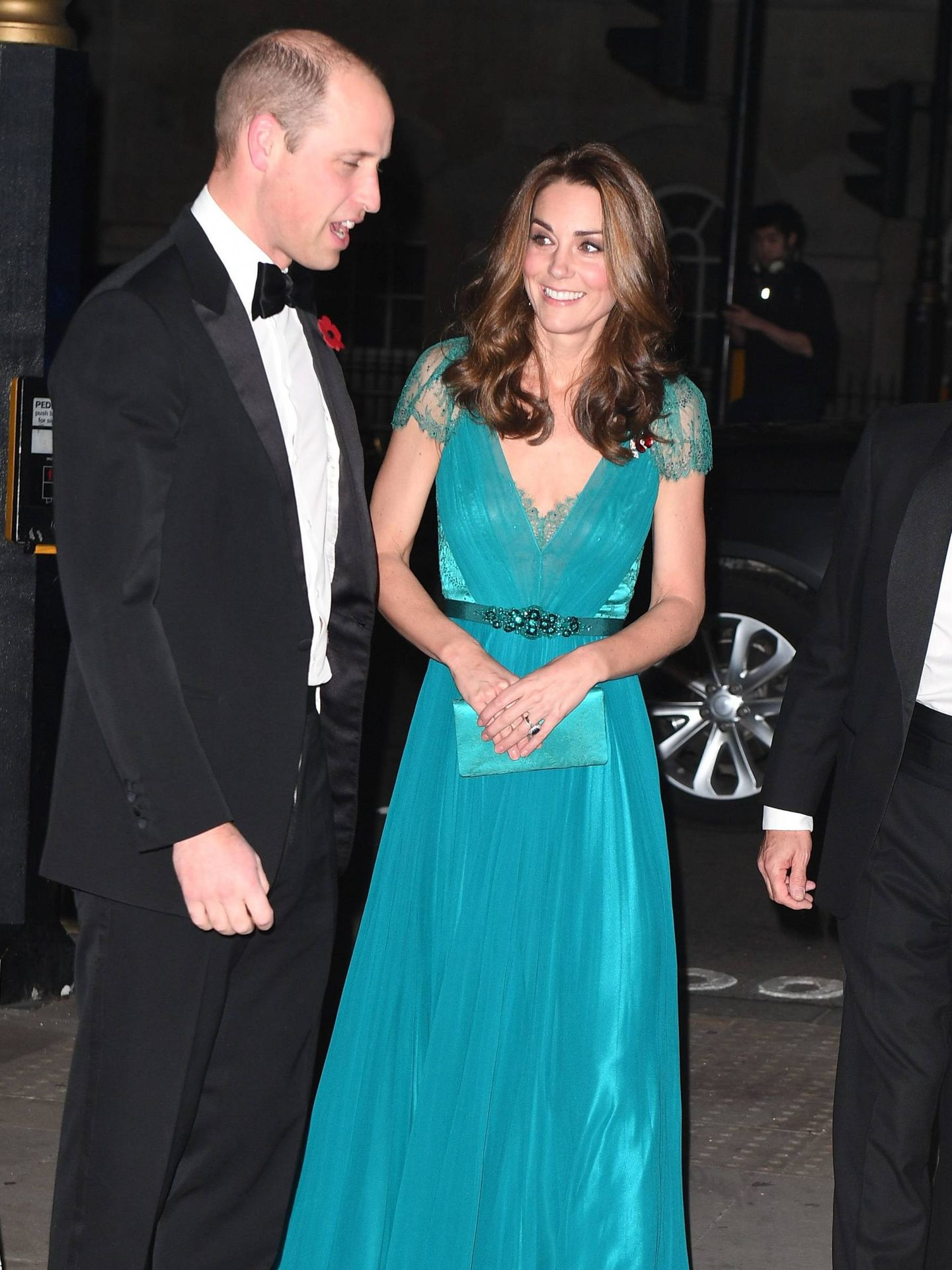 Los duques de Cambridge durante la gala. (CORDON)