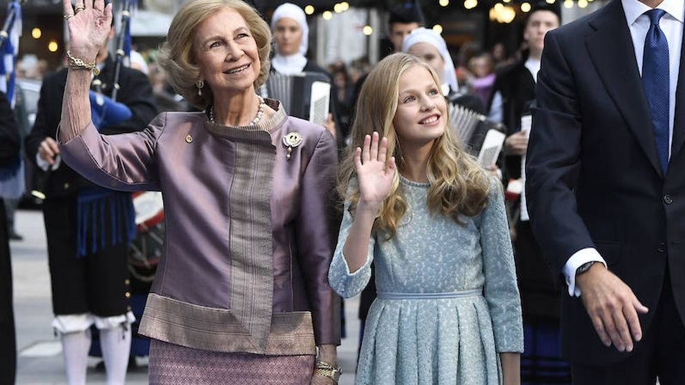 La sorpresa de Leonor a su abuela, una emocionada reina Sofía