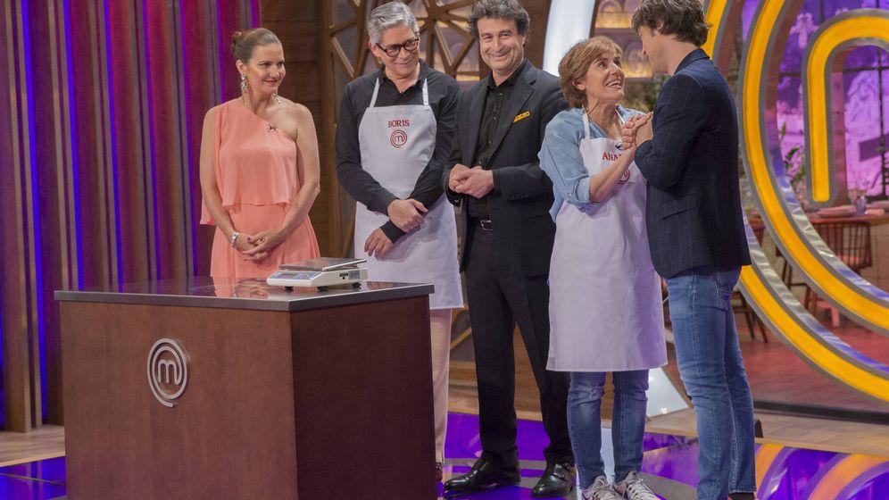 Foto: Boris Izaguirre y Anabel Alonso, en 'MasterChef Celebrity'. (TVE)