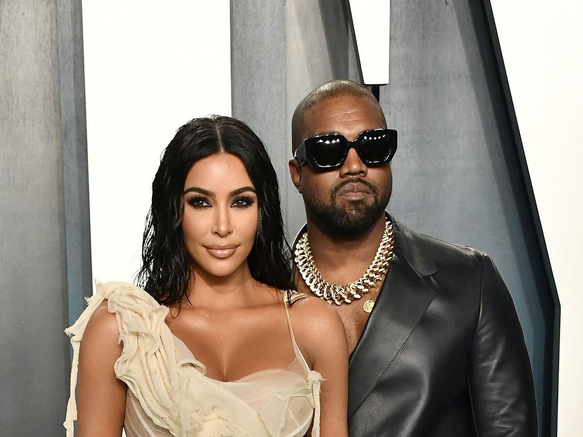 Foto: Kim Kardashian y Kanye West, en los Oscar de 2020. (Getty)