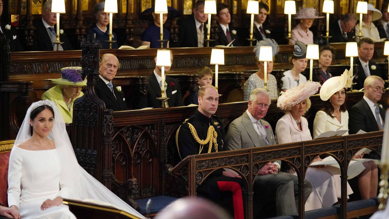 Algunos miembros de la familia real escuchando el sermón. (Gtres)