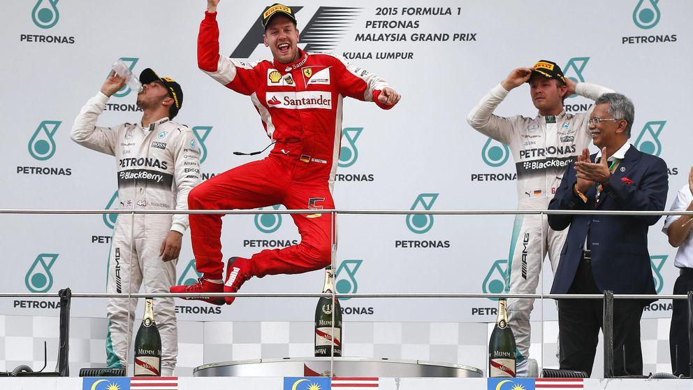 Ferrari vuelve: victoria de Vettel, remontada de Sainz y Alonso, fuera