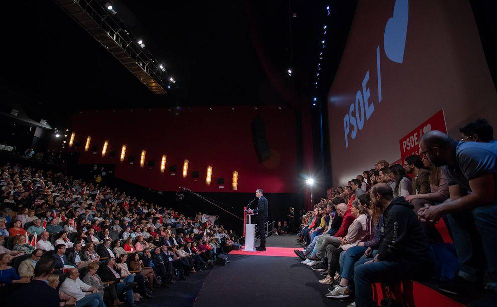 Foto: Pedro Sánchez, durante su intervención este 16 de marzo en el teatro Goya de Madrid. (Eva Ercolanese | PSOE)